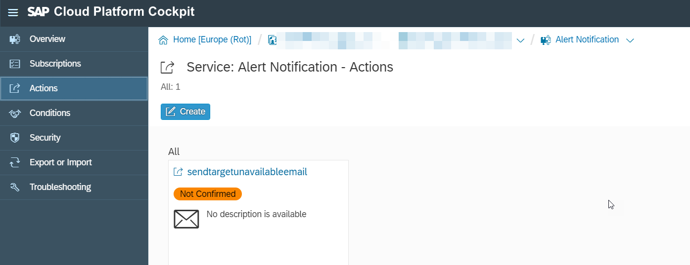 Send notification when target endpoint is down using SAP