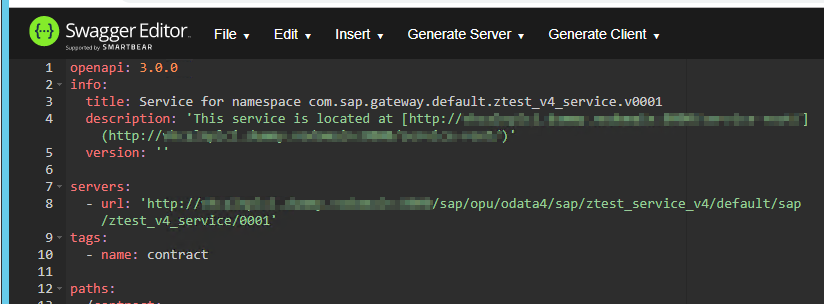 How to create an openApi Rest Service from an oData v4 Rest