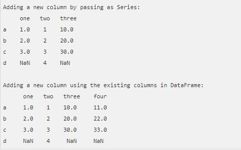 Pandas Python DataFrame: How to delete, select and add an