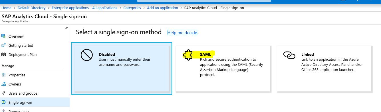 Integrating SAP Analytics Cloud with Azure AD SAML   SAP Blogs