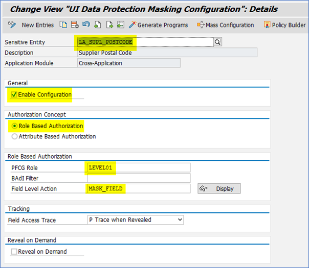 Field Level Masking in SAPUI5 – Role based masking in