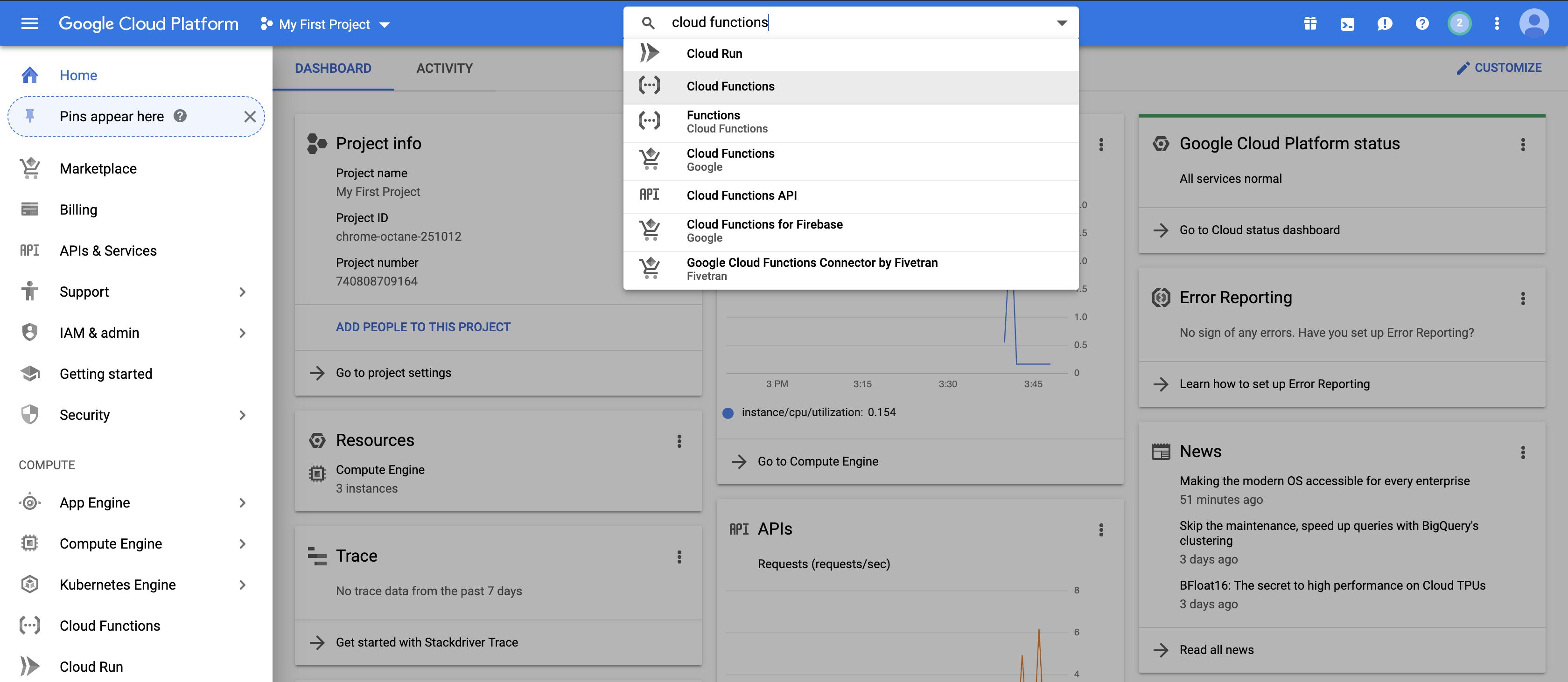 Google Cloud Platform Backing Services Alerts via SAP Cloud