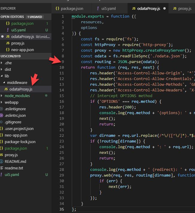 UI5 Tooling – Custom Server Middleware Proxy Extension   SAP