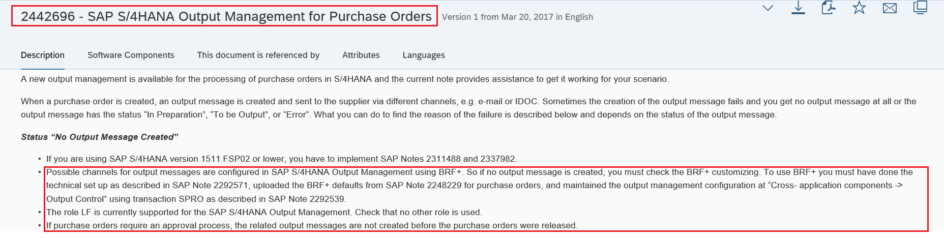 New Output Management for S/4 system  Purchase_Order
