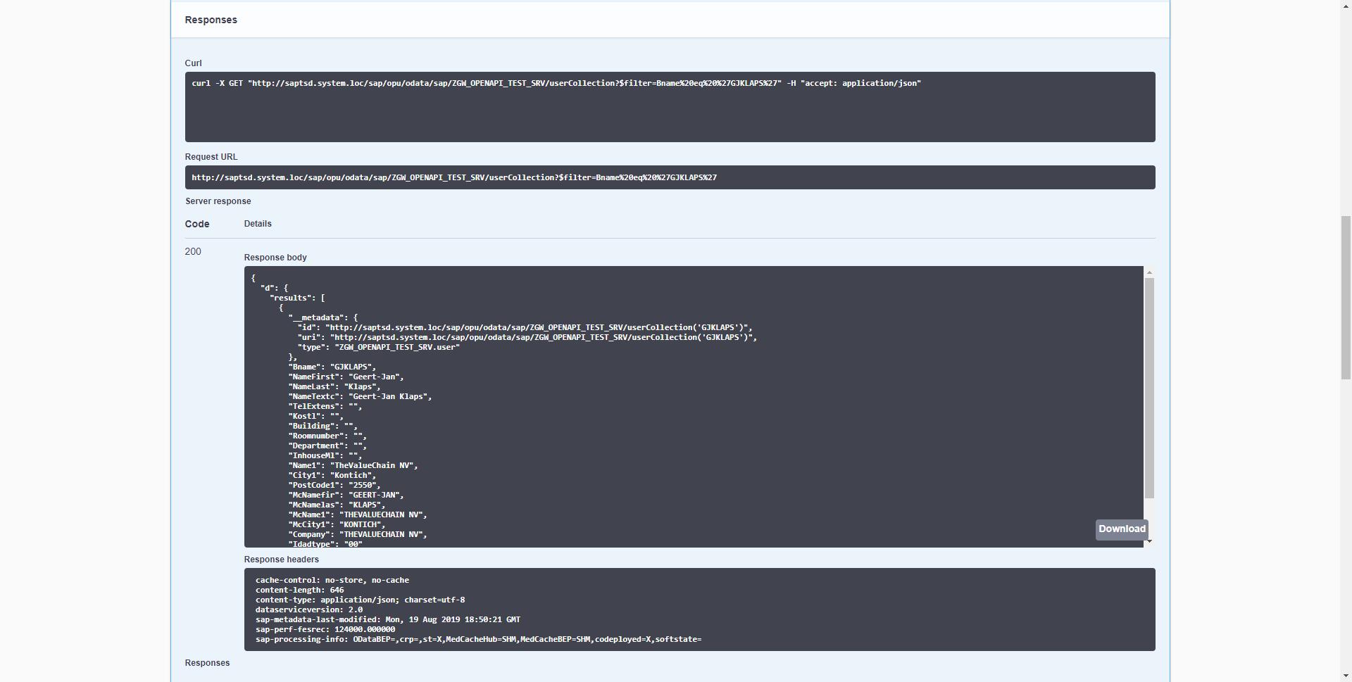 SAP NetWeaver Gateway OpenAPI / Swagger documentation, yes
