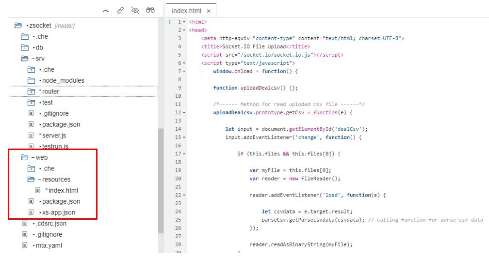 Socket IO File Upload in SAP HANA XSA | SAP Blogs