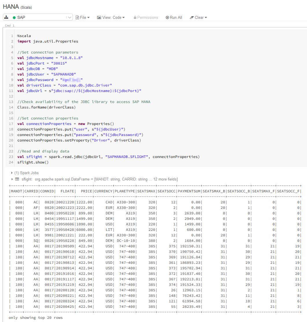 Your SAP on Azure – Part 22 – Read SAP HANA data from Azure