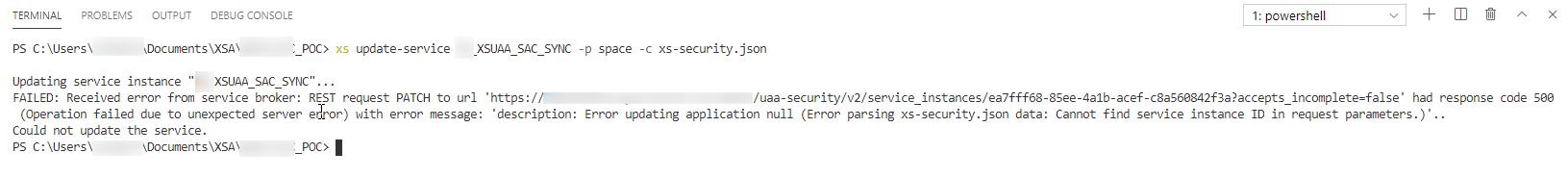 Error%20updating%20xsuaa%20service%20using%20xs-security.json
