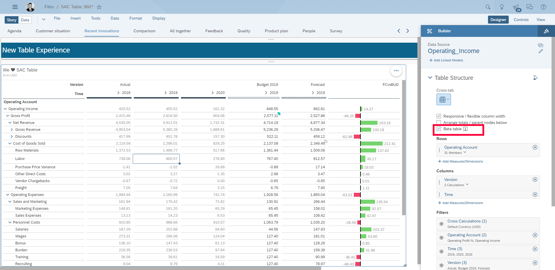 An Improved Table Experience   SAP Blogs