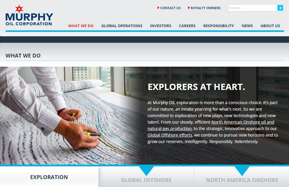 Murphy Oil web site