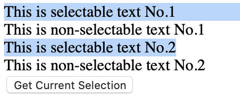 Advanced Scenario - The user selection highlighting in Safari