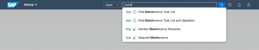 Access%20maintenance%20apps%20via%20Fiori%20Search