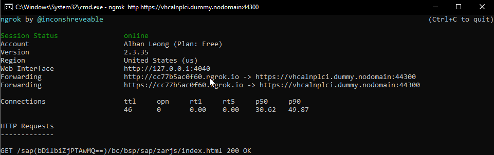 ngrok%20secure%20tunnel%20redirecting%20to%20local%20ABAP%20server