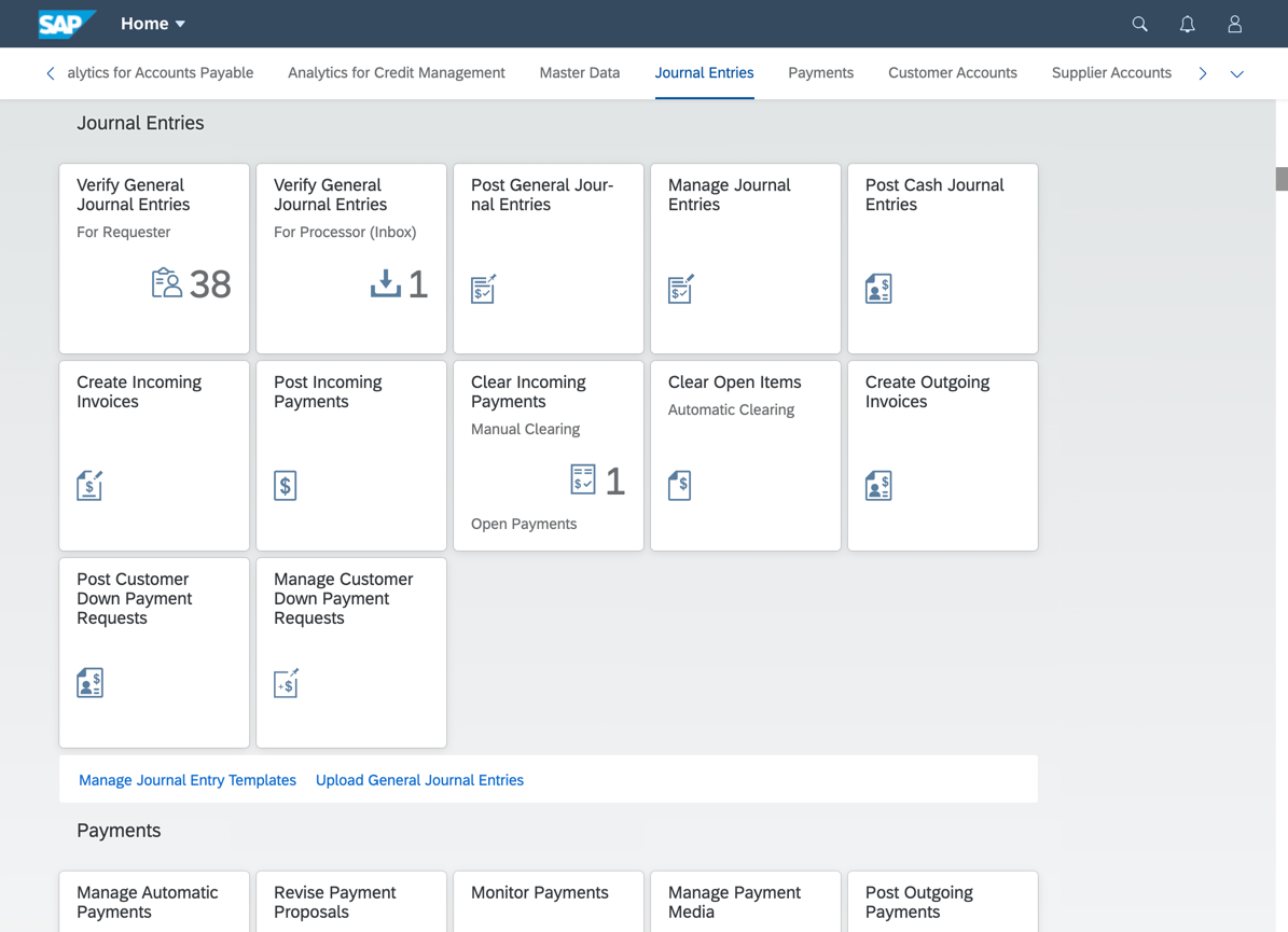 Groups%20in%20the%20SAP%20Fiori%20launchpad%20showing%20tiles%20and%20links