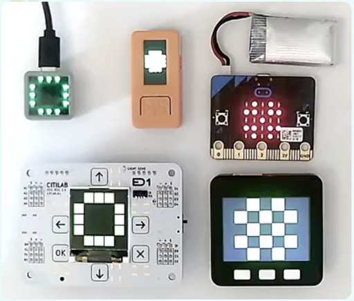 A%20collection%20of%20microcontrollers%20supported%20by%20MicroBlocks