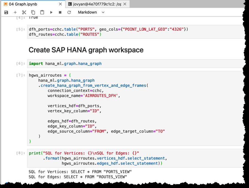 Multi-model in hana_ml 2.6 for Python: Graphs