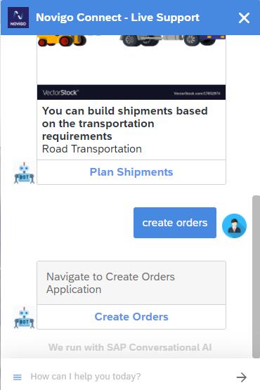 Create Orders application
