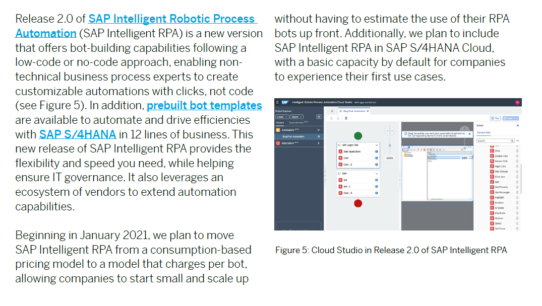 SAP Intelligent RPA 2.0 in SAP TechEd 2020 News Guide