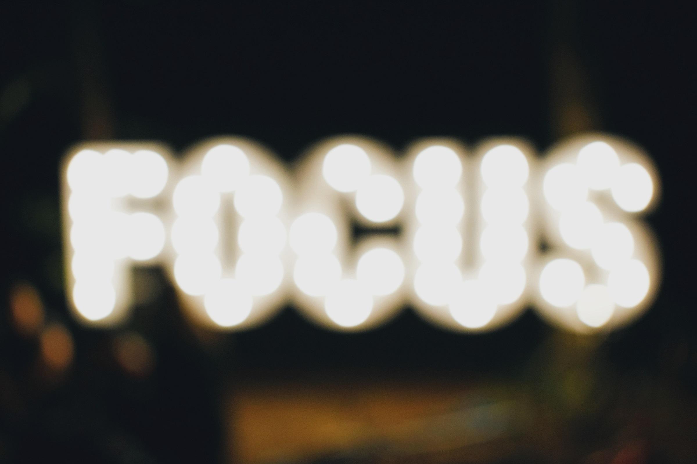 Coach's Corner – Focus on Focusing