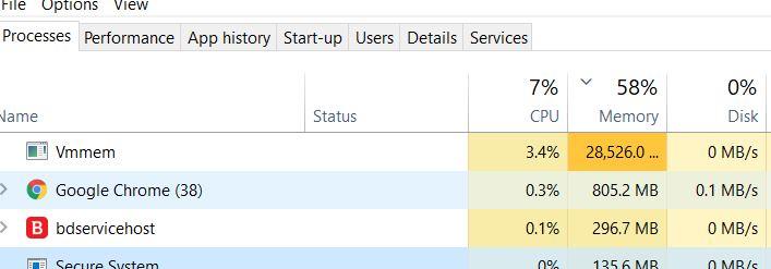 SAP ABAP Platform 1909, Developer Edition: WSL2 Memory/CPU Hogging Tip