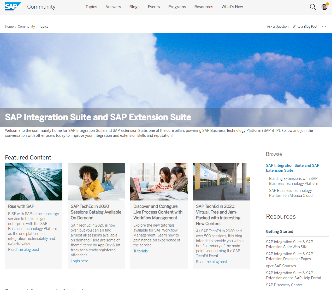 SAP Community Call – How to Stay Relevant and Up to Date with SAP Extension & Integration Suite