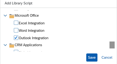 Select%20outlook%20integration