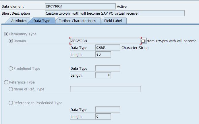 picture to compare settings of data type ZRCVPRN