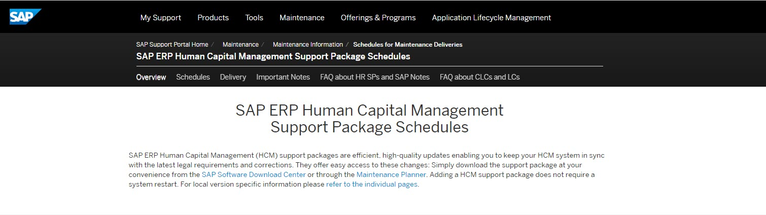 SAP%20ERP%20HCM%20Support%20Package%20Schedules