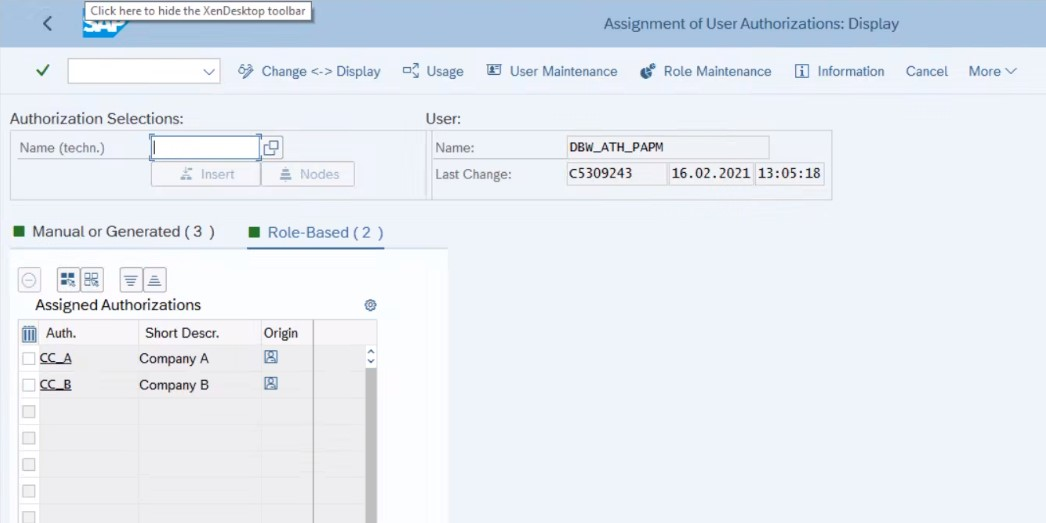 Fig.%2014%20RSECADMIN%20authorizations%20for%20user%20%u2013%20Role-Based%20tab.