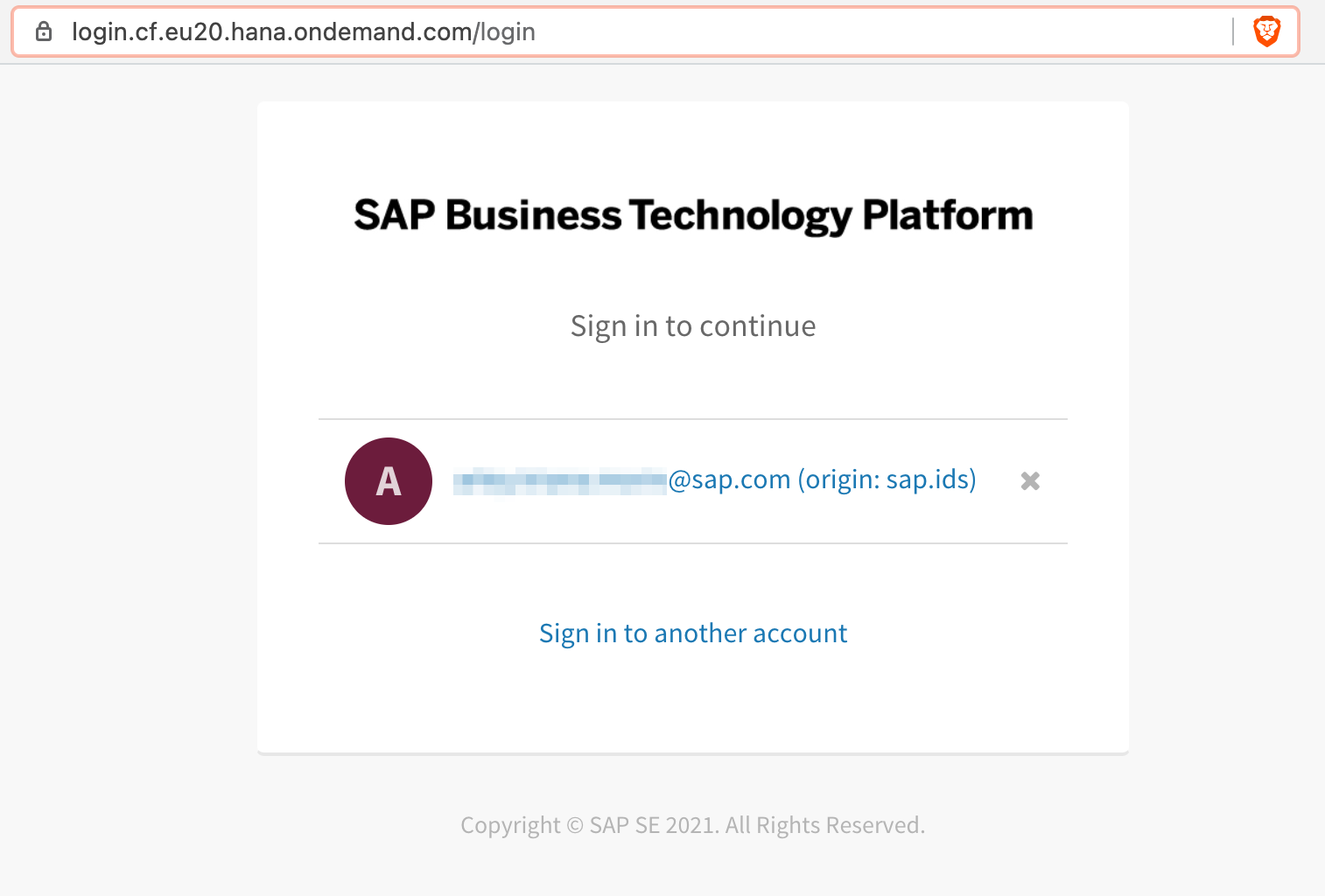 SAP BTP SSO