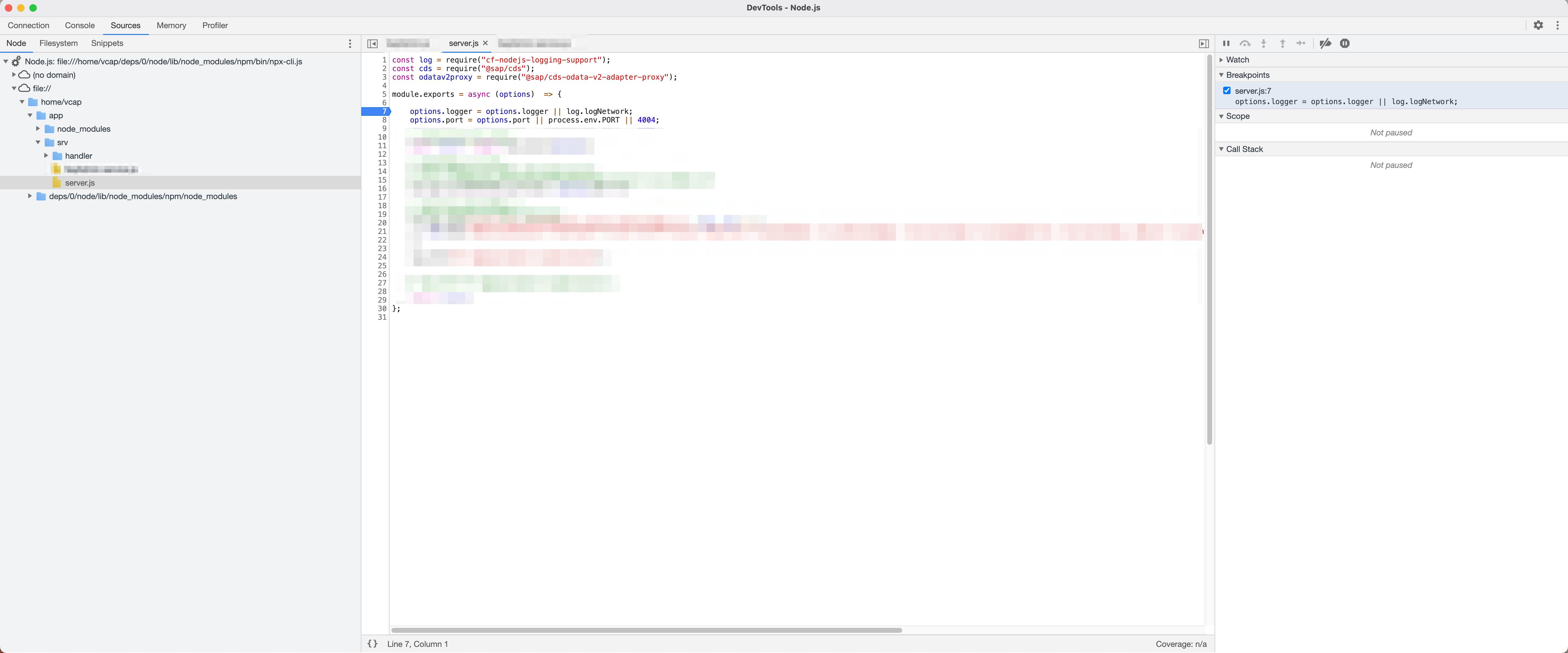 Chrome Debugger Sources Panel