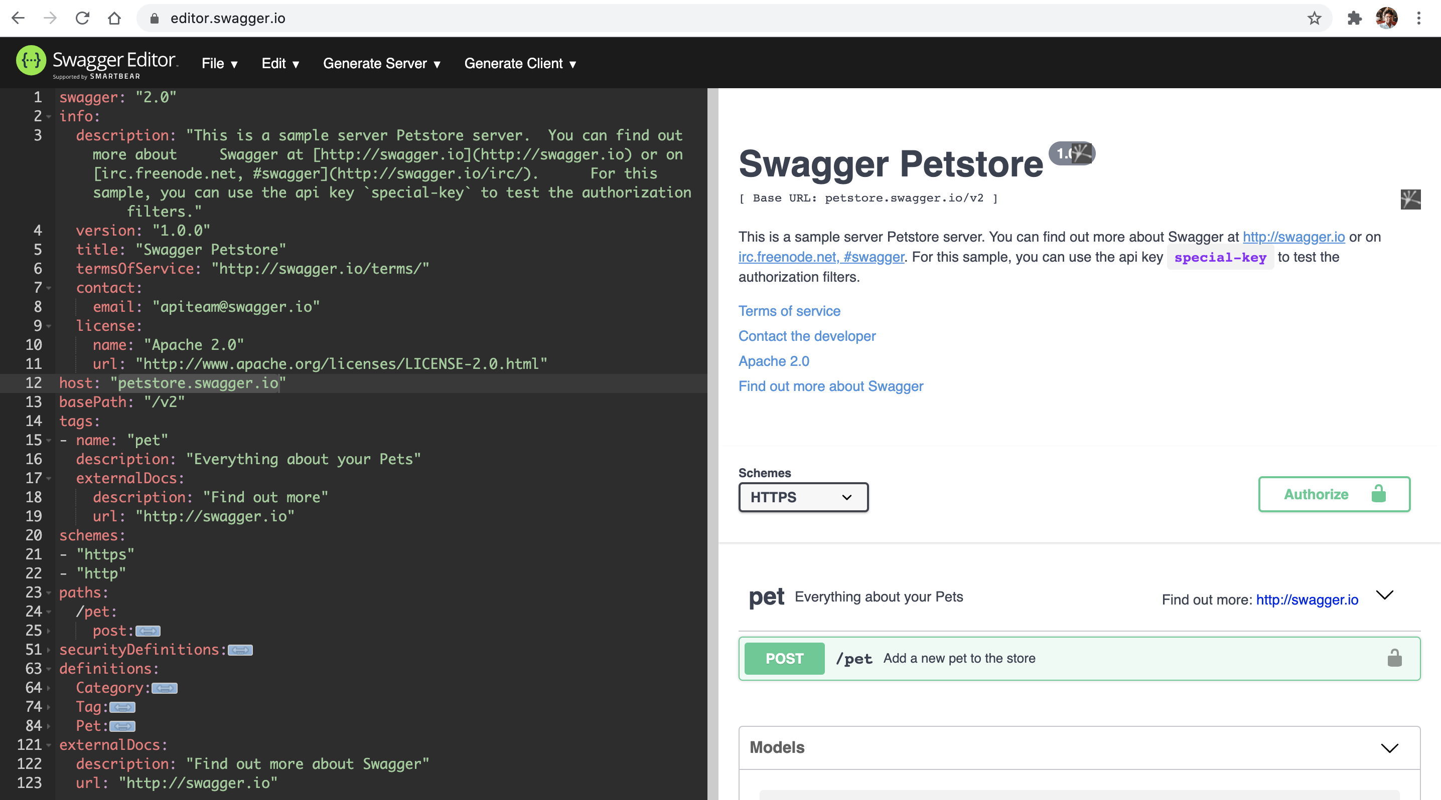 Swagger%20Editor%20for%20developing%20a%20Swagger