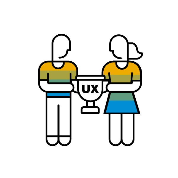 UX%20champions%20logo%3A%20A%20man%20and%20woman%20holding%20a%20UX%20trophy