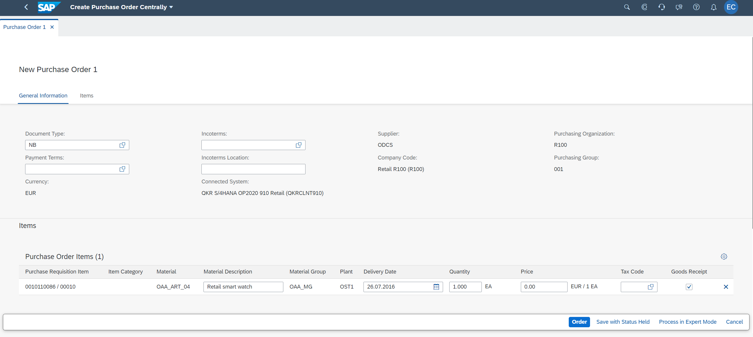 Create%20Purchase%20Order%20with%20Order%20Status%20from%20a%20purchase%20requisition%20belonging%20to%20a%20S/4%20HANA%20connected%20system